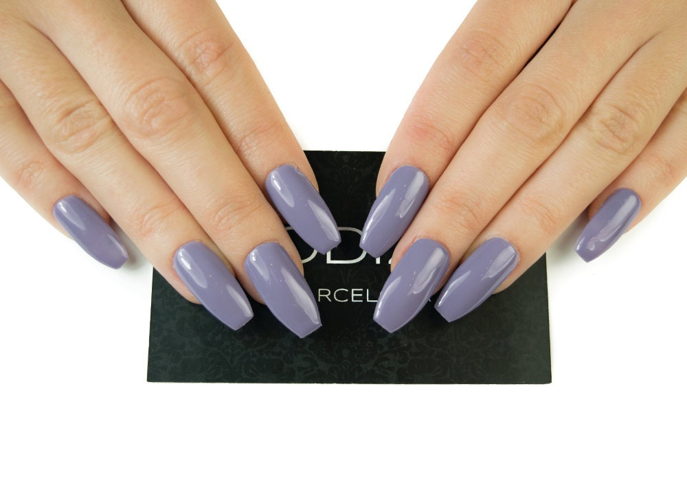 Lilac UV Gel Nails Press on Nails Fake Nails False Nails