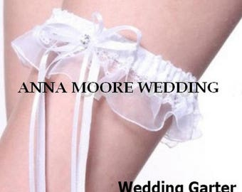 Wedding Garter White Lace Bridal leg garter