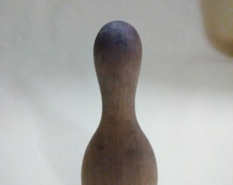 Vintage wooden bowling pin