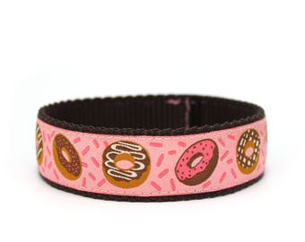 "1"" Donut Eat this Dog Collar buckle OR martingale dog collar"