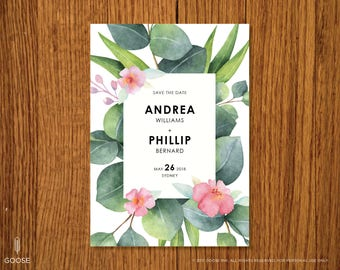 Sydney | Printable Save the Date Template | Instant Download