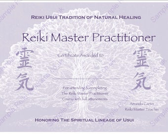 Reiki certificates etsy download complete set reiki certificate templates x4 landscape level 1 level 2 yelopaper Image collections