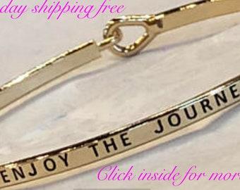 ENJOY THE JOURNEY- inspired thin hook bracelet