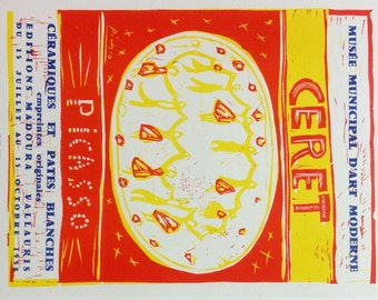 """Picasso 92 """"Ceret"""" printed 1959 by Mourlot, Art in posters"""
