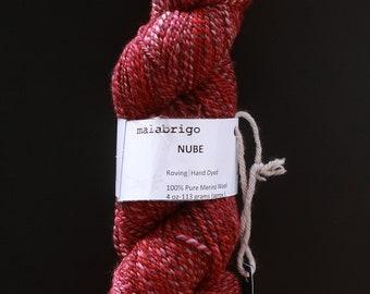DESTASH malabrigo nube handspun dk red pink natural plum gray