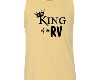 King of the RV Camping Mens Tank Top T-Shirt