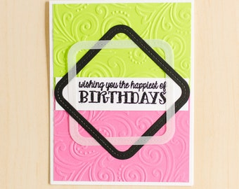 Greeting Card   Handmade Card   Birthday Card   Blank Inside Card