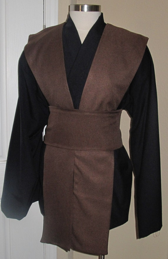 Black Tunic with Brown Tabards and sash, 4 piece costume