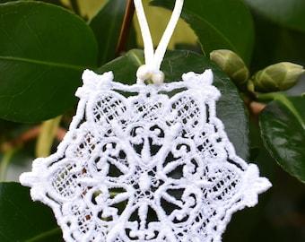 Hearts Snowflake Ornament