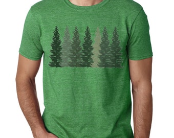 Trees t shirt | Men's T-shirt | Nature shirt | Hiking shirt | Graphic Tees | Forest Tshirt