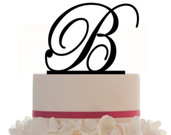 Custom Wedding Cake Topper with Personalized Initial with your choice of font, color