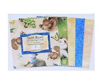 Quiet Bunny 5' Karat Mini- Crystals 28- 5in Squares By Wilmington Prints