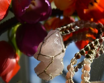 Springtime heart OOAK adjustable necklace