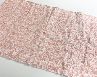 Blush Lace Organic Cotton Knit Swaddle Blanket