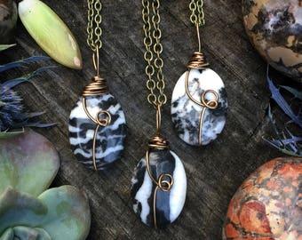Zebra Jasper necklace, Zebra jasper ,  zebra agate,  gemstone necklace