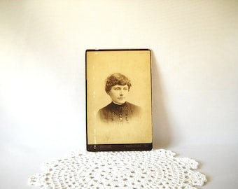 Vintage Photograph Cabinet Photo Antique Cab Card Paper Ephemera Victorian Ladies Sepia Black & White Photograph Instant Ancestors