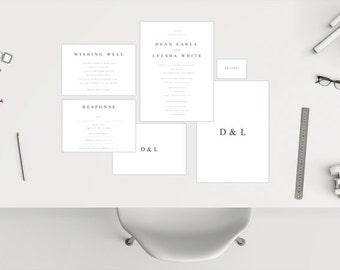 Wedding Package // Simplistic White