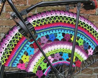 PDF Pattern  Color Burst, Crochet Skirt Guards