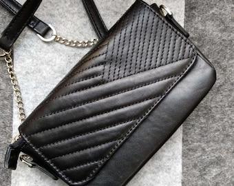 Black crossbody bag leather women bag messenger bag small crossbody bags for women handbags women's everyday bag shoulder bag and purse