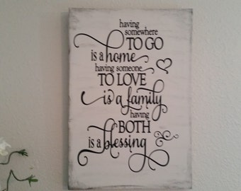 Home/family blessing sign