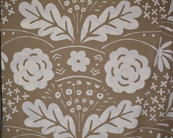 Vintage 70s fabric Marimekko fabric Dan River mod floral fabric abstract stylized modern fabric Danish minimalist home decor