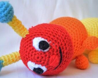 Amigurumi Caterpillar : Plush caterpillar stuffed animal toy amigurumi caterpillar