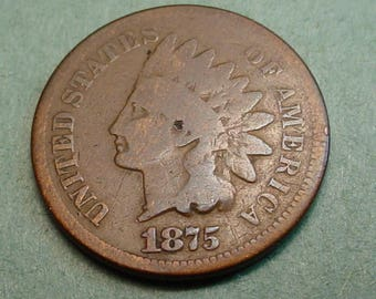1875 Indian Head Cent  Good<> The Coin you see is the coin you get /Insurance Included in SH <>ET6415