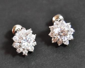 Rhinestone Stud Earrings, Post Earrings, Crystal Stud Earrings, Wedding Earrings, Bridal Earrings, Bridesmaid Gifts