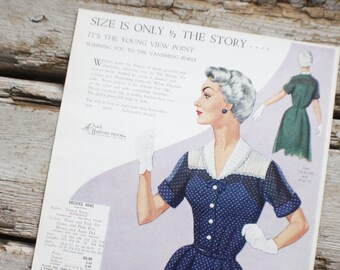 Fashion Frocks, Style Card, 1950s ,Mad Men , retro clothing, style 6042, clothing, dressmaker, seamstress gift, lookbook, cincinnati ohio,