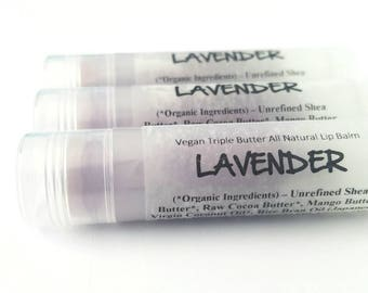 Lavender Lip Balm. Vegan Lip Balm. All Natural.