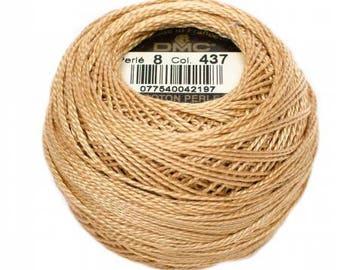 DMC 437 Light Tan Perle Cotton Thread Size 8