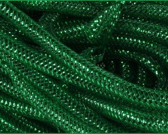 8MM Dark Green Emerald Green Foil Flex Tubing RE300457 (10 YARDS)