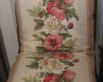 Pair of Double Floral Cushions