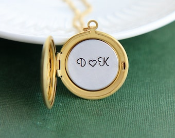 Initial Locket, Personalized Locket Necklace, Gold Locket Necklace, Personalized Jewelry, Monogram Necklace, Date Necklace, Name Necklace