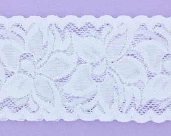 12 piece - 2 3/8 inch Lace Stretchy Floral Headband - Hairbows Wholesale