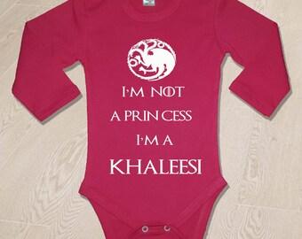 Gme Of Thrones Body Game Of Thrones baby bodysuit GOT Baby Body I'm Not A Princess, I'm A Khaleesi Bodysuit Gift Birthday Newborn baby body