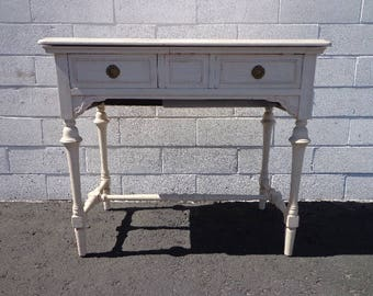 Desk Antique Table Vintage Regency French Provincial Writing Set Vanity Shabby Chic Desk Dresser Sewing Stand Neoclassic CUSTOM PAINT AVAIL