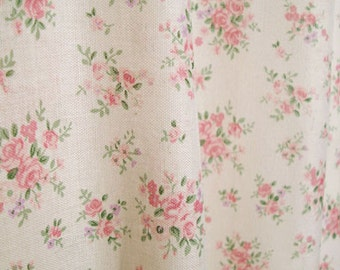 """Cotton Fabric Country Rose Mini by the yards 44"""" Cozy Country Rose Mini"""