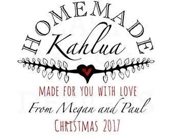 Homemade Kahlua Labels. Textured Kraft Brown Custom Labels. Custom Wedding or Holiday Gift Tags. Homemade Food Labels. Homemade Kahlua Tags.