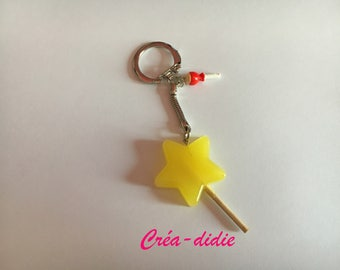 Star lollipop keychain