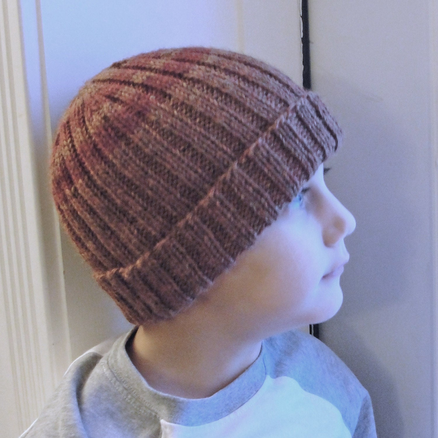 Instant Download Knit Hat PATTERN PDF Men\'s