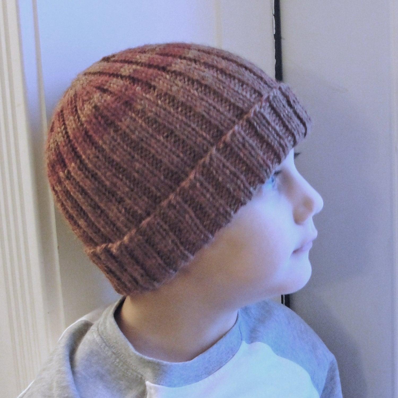 Instant Download Knit Hat PATTERN PDF Men\'s