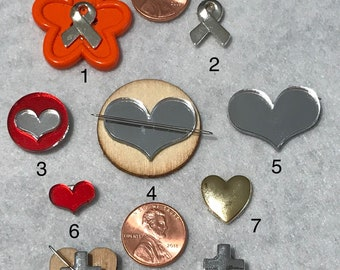 Ribbon, Hearts and Crosses Magnetic Needle Minders
