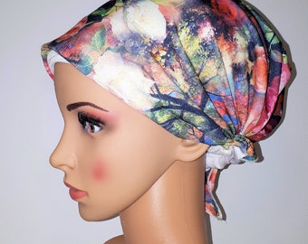 Colorful Flowery Headcover Scarf Tichel Turban Wrap Jewish Chemo Head Scarves Bandana Dorigal