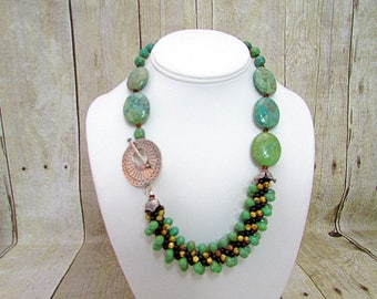 Turquoise and Kumihimo Necklace