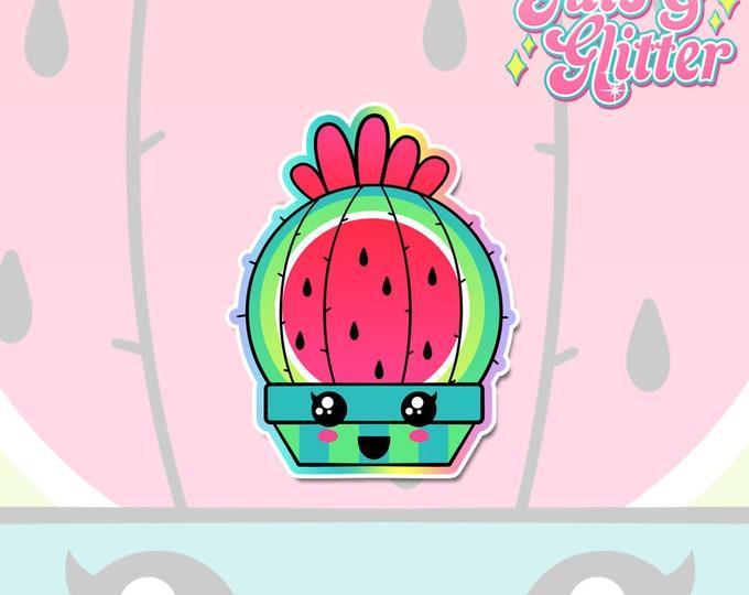 Cactus Melon White Vinyl Sticker Set