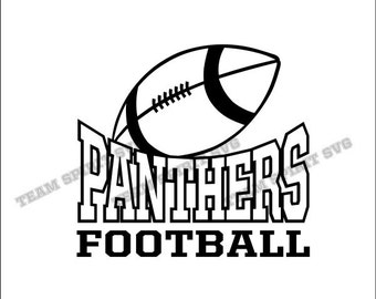 Panthers Football Download Files - SVG, DXF, EPS, Silhouette Studio, Vinyl Cut Files, Digital Cut Files -Use with Cricut and Silhouette
