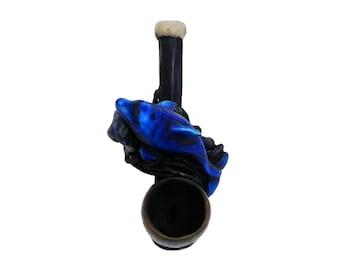 Blue Swimming Dolphin Handmade Tobacco Smoking Mini Hand Pipe