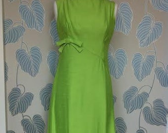 1960s Carol Craig Lime Green Dress
