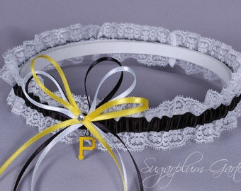 Pittsburgh Pirates Lace Wedding Garter